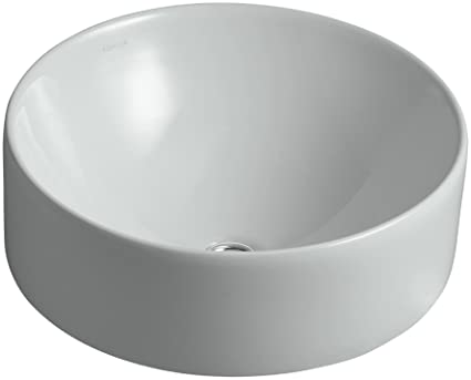 Kohler K 14800 95 Vox Vessel Round Above Counter Bathroom Sink Ice Grey