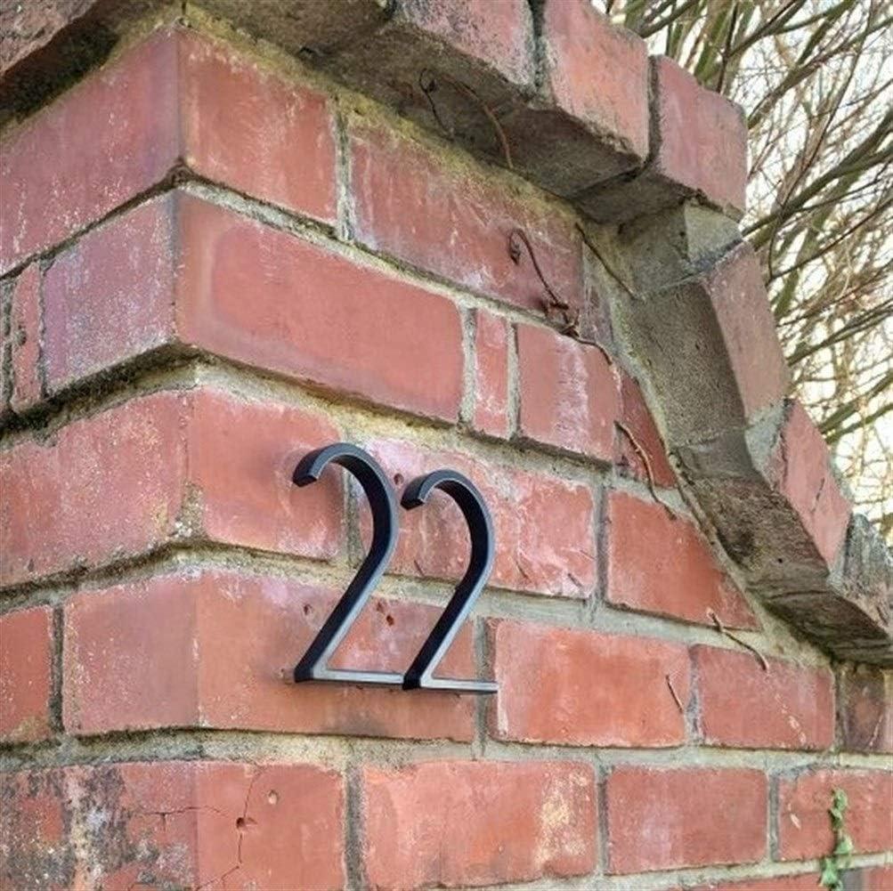 Color : Letter A KDHJY Maison Nombre de Porte Signe 12cm Moderne Flottant b/âtiment ext/érieur Huisnummer Adresse num/éros Plaque signal/étique Noir Numero De CASA Ext/érieur