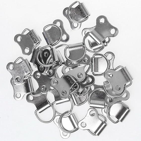 25 piezas del anillo en D colgante, borte Marco del cuadro colgante anillos en D marcos bastidores ganchos con tornillos: Amazon.es: Hogar