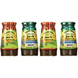 Walkerswood 2 Bottles Jerk Seasoning Variety Pack, Mild & Hot, 10 Ounce (Pack of 4)
