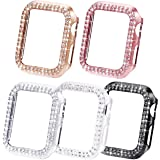 NewWays Bling Cases Compatible for Apple Watch 38mm 40mm 42mm 44mm, Protective Bumper for iWatch SE Series 6 5 4 3 2 1 (44mm,