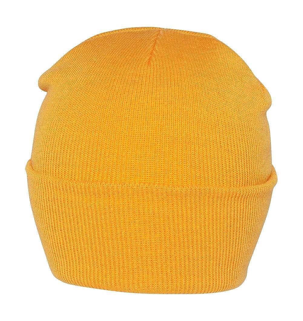 61eb6e89bbf Blank Long Cuff Beanie - Yellow Gold at Amazon Men s Clothing store  Skull  Caps