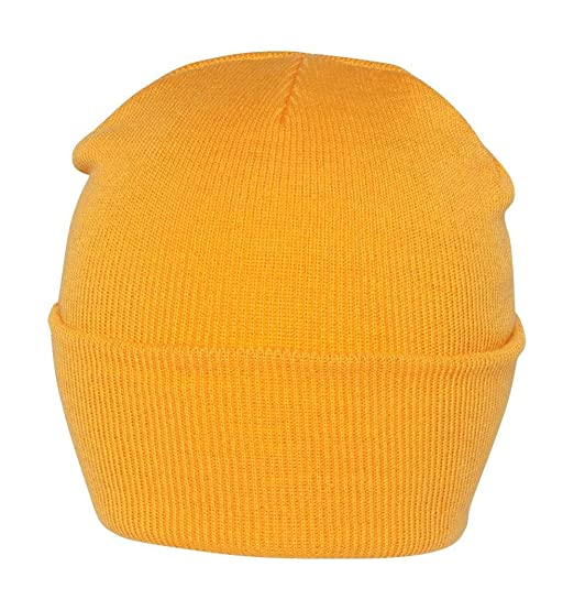 Blank Long Cuff Beanie - Yellow Gold at Amazon Men s Clothing store ... bb1980bc118