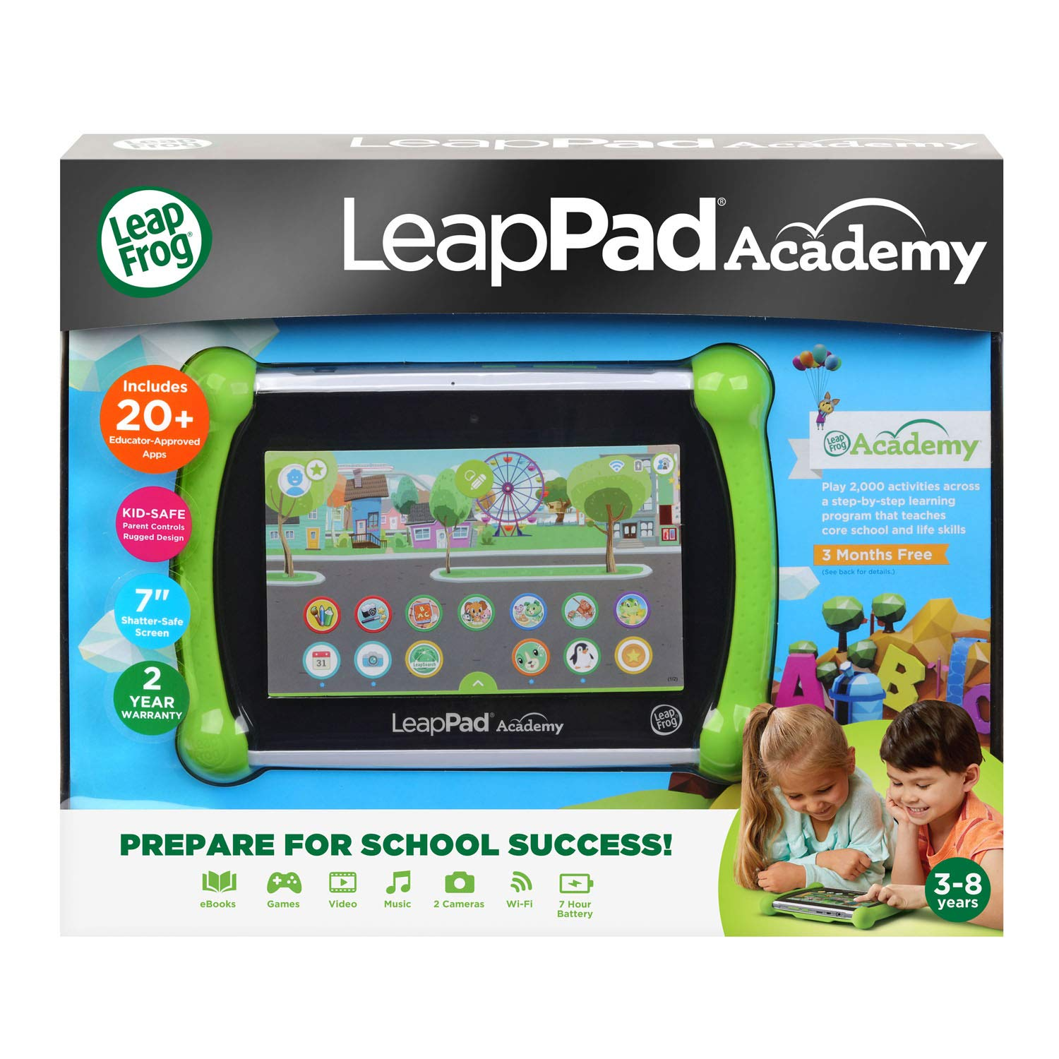 LeapFrog LeapPad Academy Kids' Learning Tablet, Green by LeapFrog (Image #8)