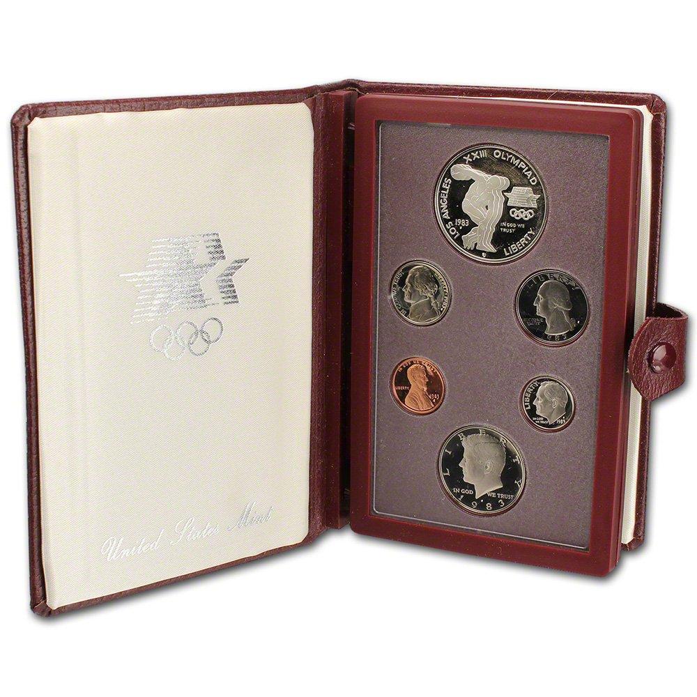 1983 U.S MIRROR SHINE 5 coins OGP PROOF SET
