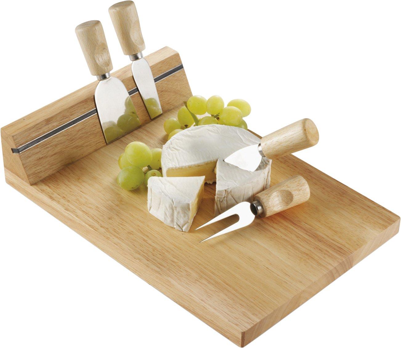 Formaggio tagliere in legno Con magnete per il 4-pezzi Spedizione senza posate formaggio NoName