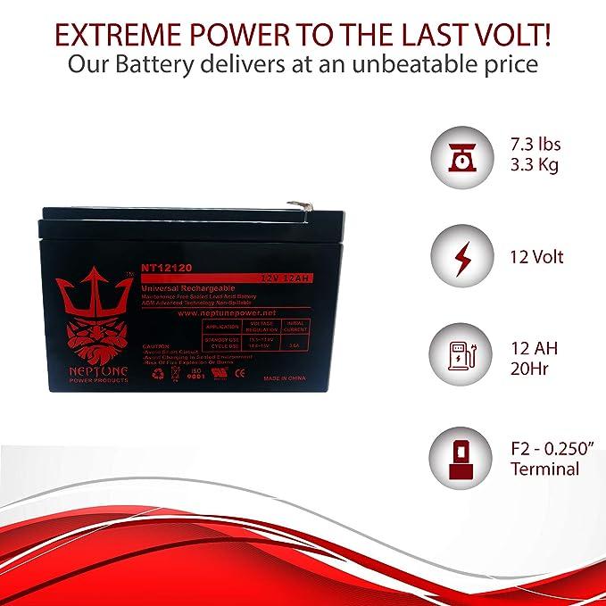 Amazon.com: Izip AL-1020 batería de 12 V 12 Ah Scooter ...