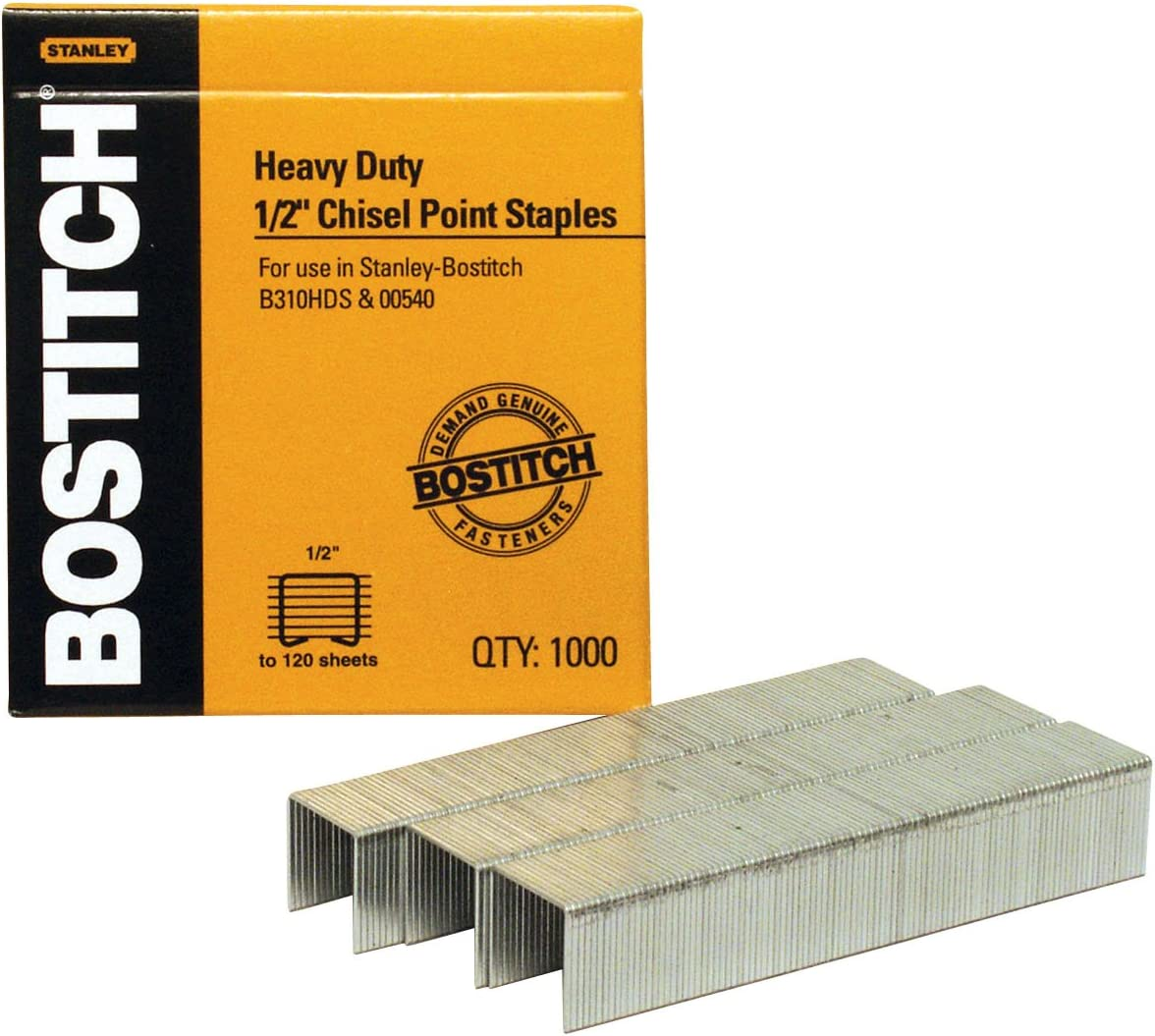 Bostitch Office SB351/2-1M Heavy Duty Premium Staples : General Purpose Staples : Office Products