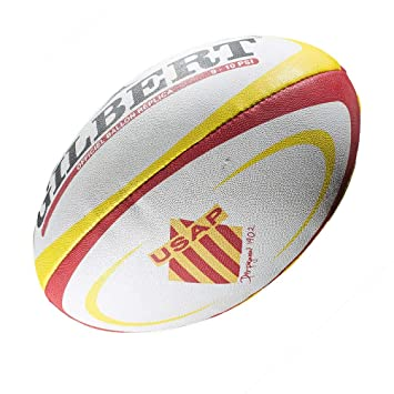 GILBERT perpignan USAP mini rugby ball: Amazon.es: Deportes y aire ...