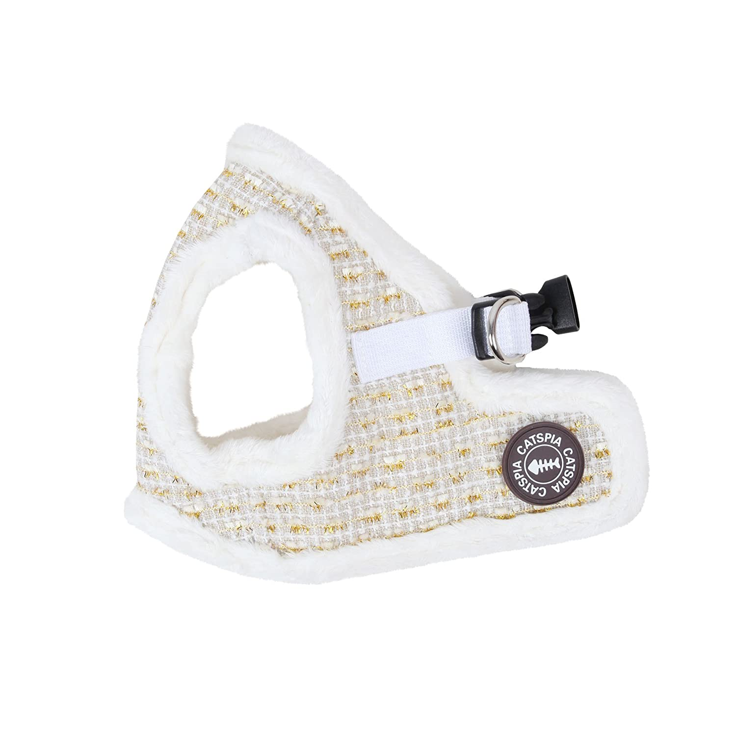 CATSPIA Purry Vest Harness, Large, Ivory