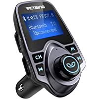 VicTsing Bluetooth FM Transmitter with Hand-Free Calling and 1.44