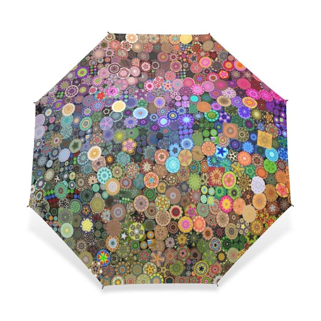 Enneコンパクト傘曼荼羅パターン雨傘折りたたみ式トラベル傘防風傘UV保護8リブ B0737Z2W3X B0737Z2W3X, アニアリaniary:702a94cc --- ijpba.info