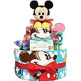 KanonBabys おむつケーキ [ 男の子向け/ディズニー : ミッキー / 2段 ] パンパースS22枚 (出産祝いに大人気) ダイパーケーキ ギフト 誕生日プレゼント 赤ちゃんの内祝い にもおすすめ