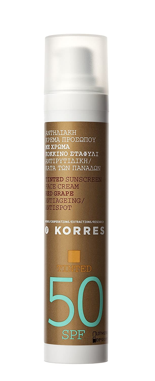 Amazon.com: Korres Tinted Red Grape Sunscreen Spf50 (50Ml): Beauty