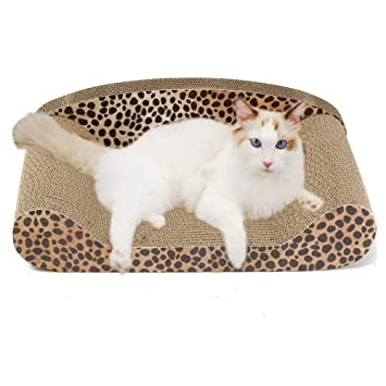 Owikar - Rascador para gatos con diseño de sofá, tabla corrugada para juguetes, sofá o cama para ...