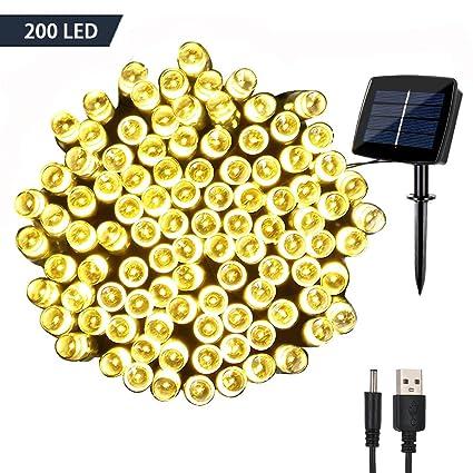 Amazoncom Solar Fairy String Lights Outdoor Waterproof Woohaha
