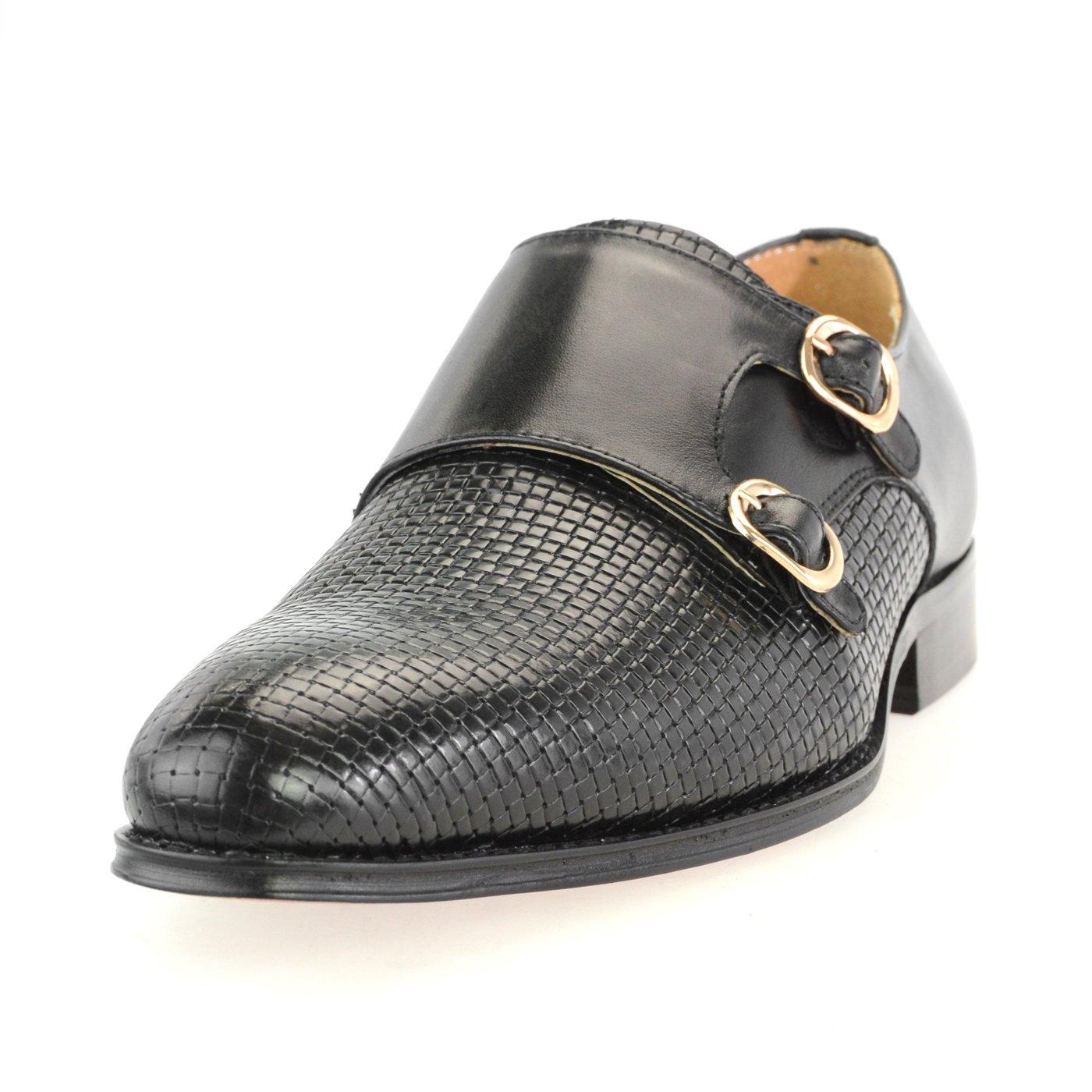 品質が [ルシウス] レザー 本革 B076DTB3NH 20種類から選ぶ レザー メダリオン メンズ ダブル モンクストラップ メダリオン ストレートチップ 革靴 紳士靴 B076DTB3NH Y08-80 ブラック 27.5 cm 3E 27.5 cm 3E|Y08-80 ブラック, 本川越つけめん頑者:2db742f1 --- kuoying.net
