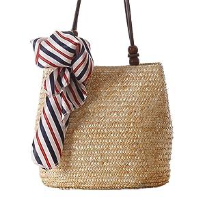 sac à épaule sac fourre-tout paille femmes filles style pastoral courses voyage
