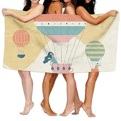 Globos de aire caliente Unisex playa toallas de baño toallas toallitas para Teen Girls adultos toalla