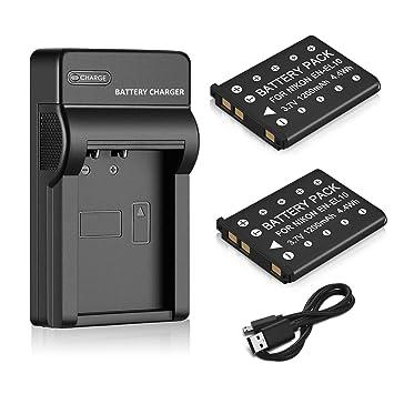 Amazon.com: Venwo Baterías y cargador USB: Camera & Photo