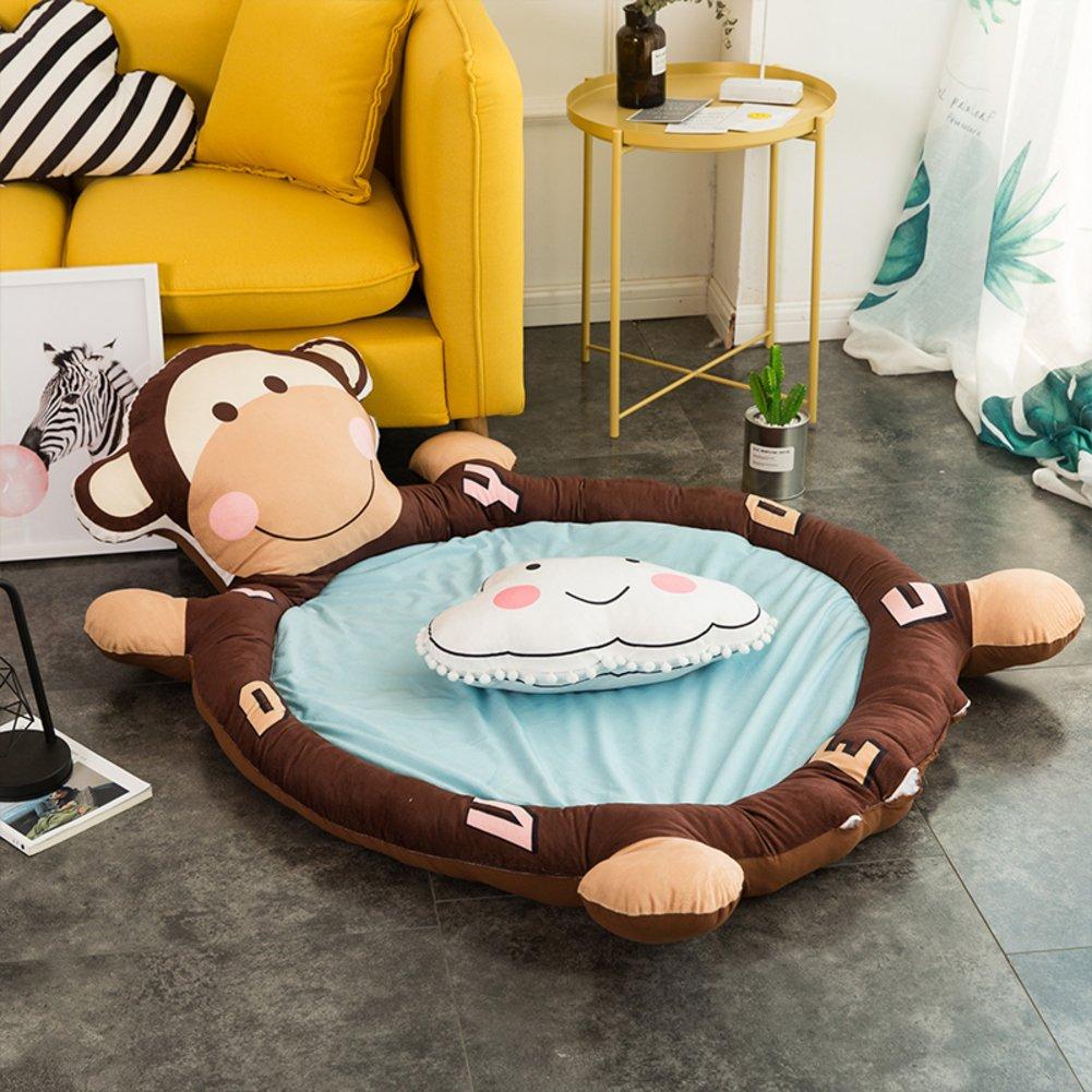 HOMMEMAT Baumwolle Baby Crawling-Matte,Verdicken sie Folding Runde Mat Baby-spielMatte Für einen rutschfesten Teppich 59  d-E C