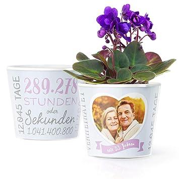 33 Hochzeitstag Geschenk Blumentopf O16cm Deko Geschenke Zur