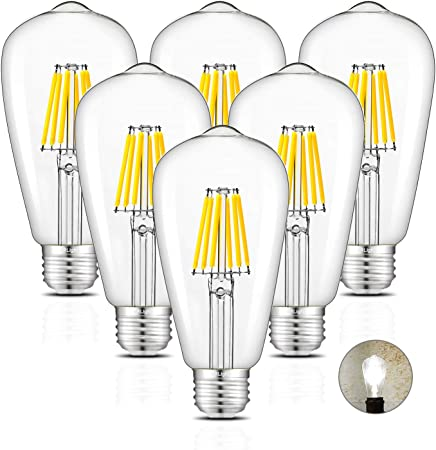 CRLight LED Candelabra Bulb 6W 4000K Daylight Neutral White 60W Equivalent 60W..
