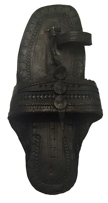 6361bfa5107 Beadscape ~ A Bit of Deja Vu Hippie Indian Water Buffalo Jesus Sandals 100%  Leather