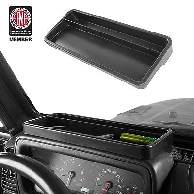Jeep Wrangler TJ 97-06 Front Dashboard Tray Storage Box Container Organizer: Automotive