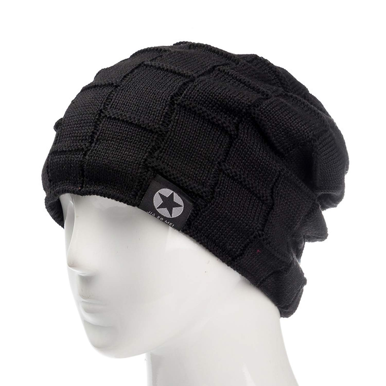 Winter Wool Warm Beanies Hat Baggy Skullies Knitted Hat for Men Women Ski Sports Beanies Cap