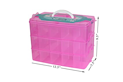 Amazoncom Bins Things Stackable Storage Container for Shopkins