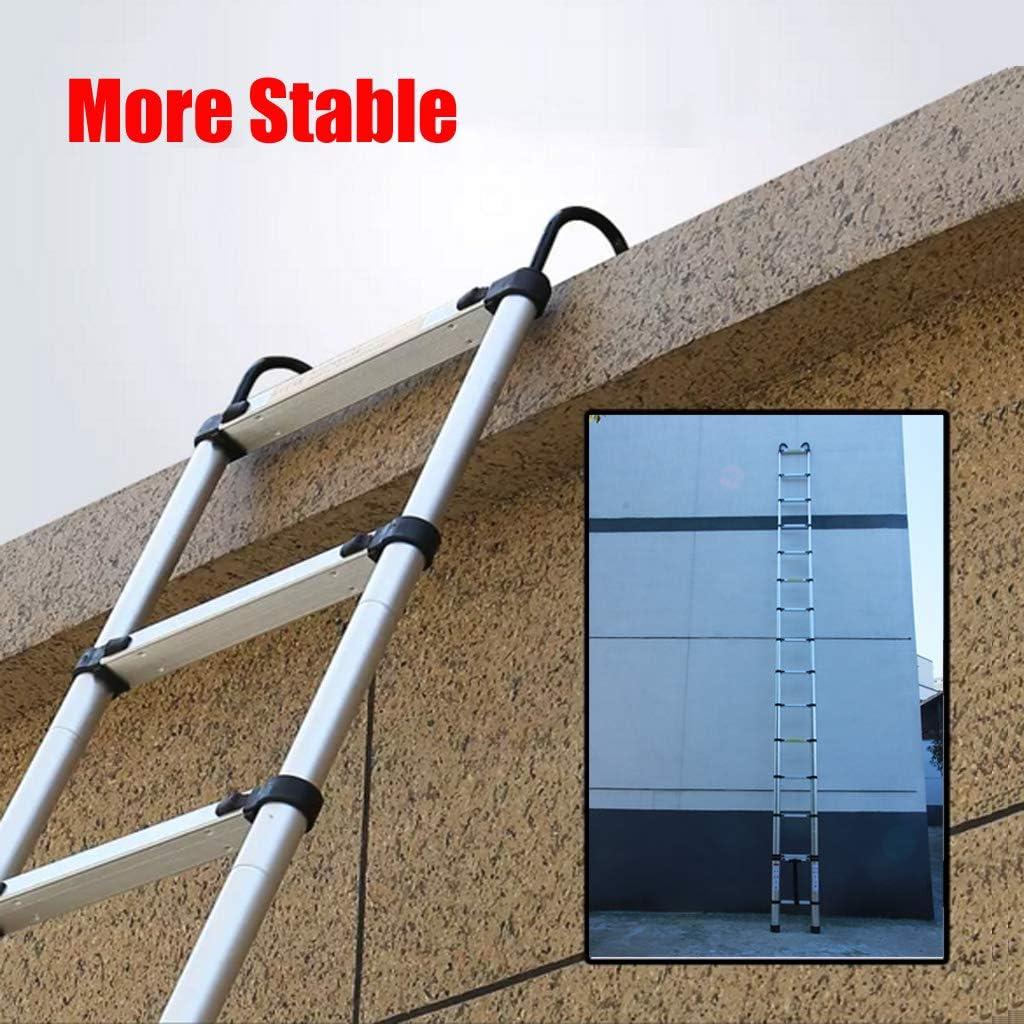 Traglast 150 kg Klappbar Ausziehbare Leiter f/ür Dachdach Zuhause drinnen und drau/ßen 6.2M Teleskopleiter mit Haken 15 Sprossen Aluleiter Mehrzweckleiter mit Fingerschutz