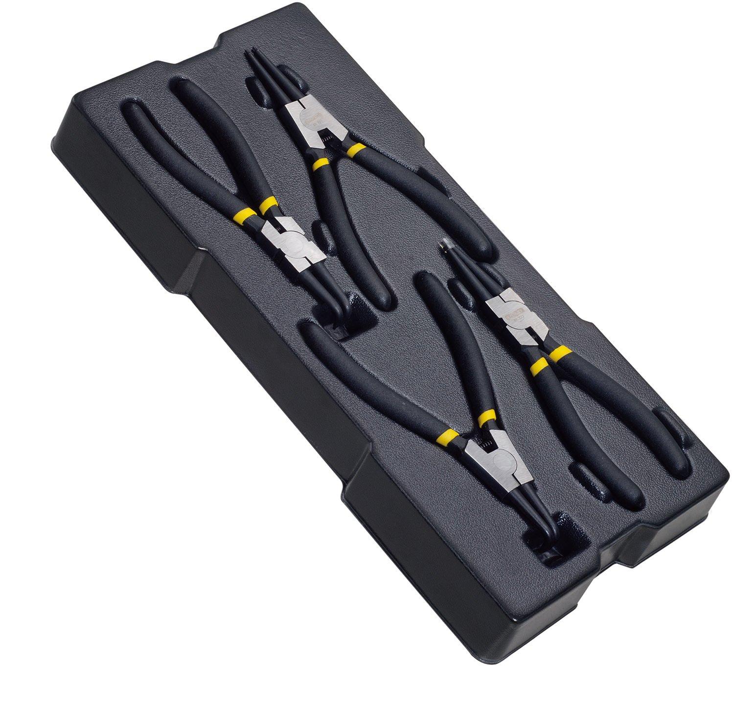 Stanley - Juego de alicates para anillos de seguridad, sistema TransModul, unidad con 4 piezas, STMT1-74180: Amazon.es: Bricolaje y herramientas