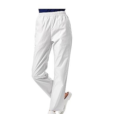 32838b86c00f BSTT Damen OP-Hosen weiße Medizin Arbeitshosen Gummibund Verbesserung   Amazon.de  Bekleidung