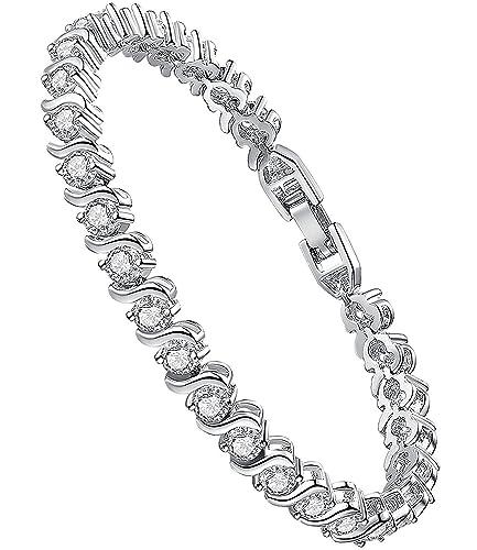 0c1d8ffb05 Bracciale tennis con cristalli ♥Festa della mamma♥ Swarovski ...