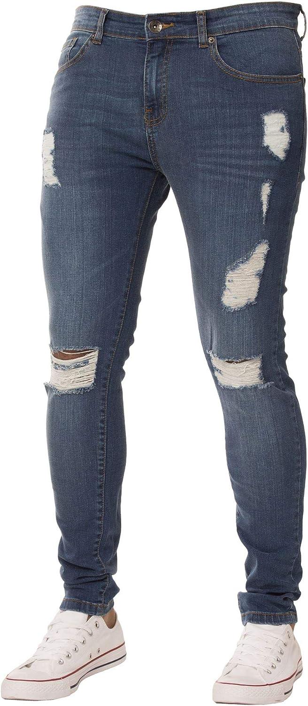 Enzo Designer Jeans da uomo Regular Fit Denim Pantaloni Big King alti tutte le taglie in vita