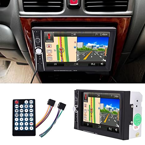 Sedeta reproductor estéreo de navegación GPS para coche con pantalla táctil y memoria de 8 GB