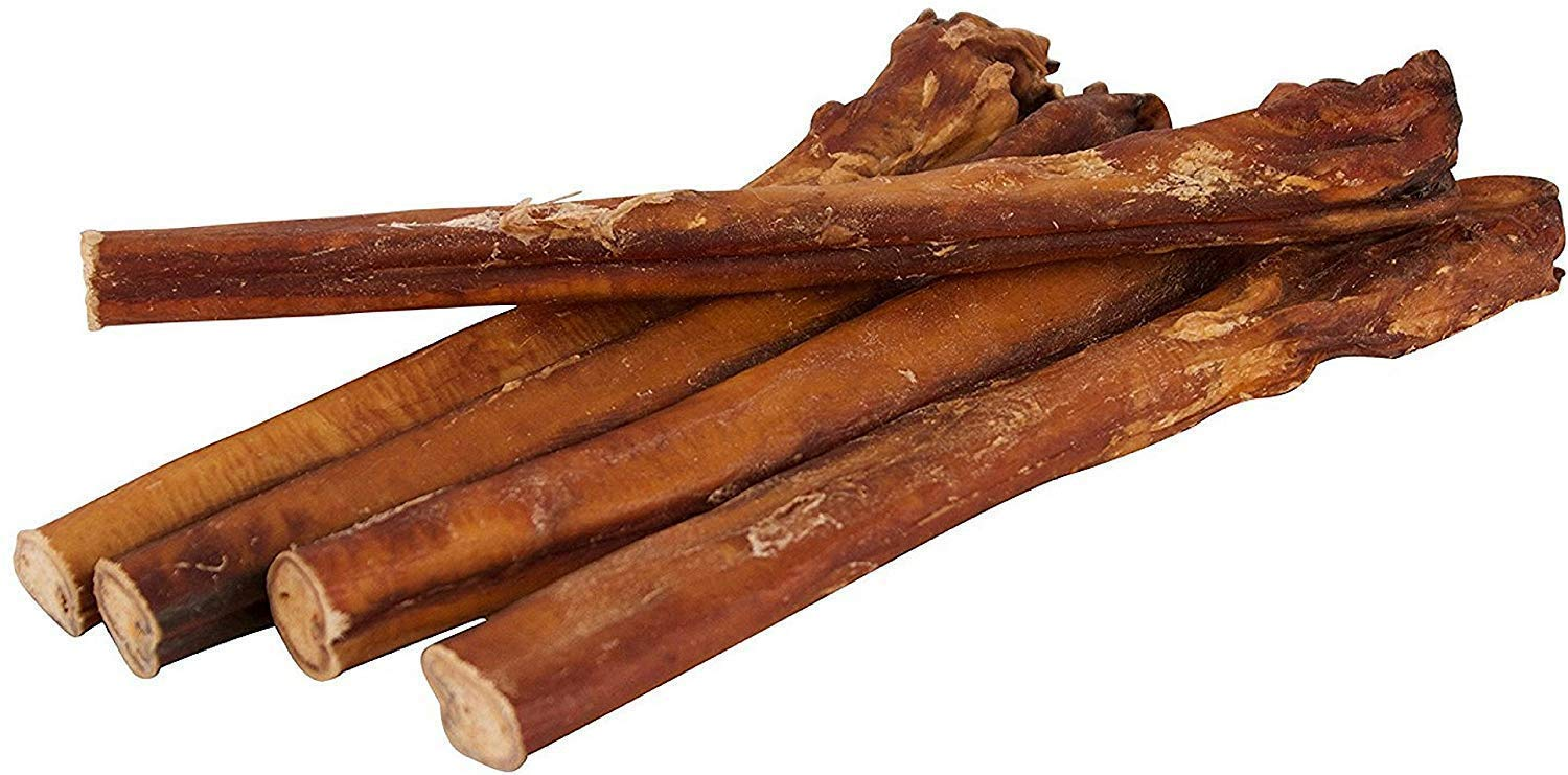 12'' Straight Bully Sticks for Dogs [X-Large Thickness] (10 Pack) - All Natural & Odorless Bully Bones | Long Lasting Chew Dental Treats | Best Thick Bullie Sticks for K9 or Puppies | Grass-Fed Beef by Pawstruck