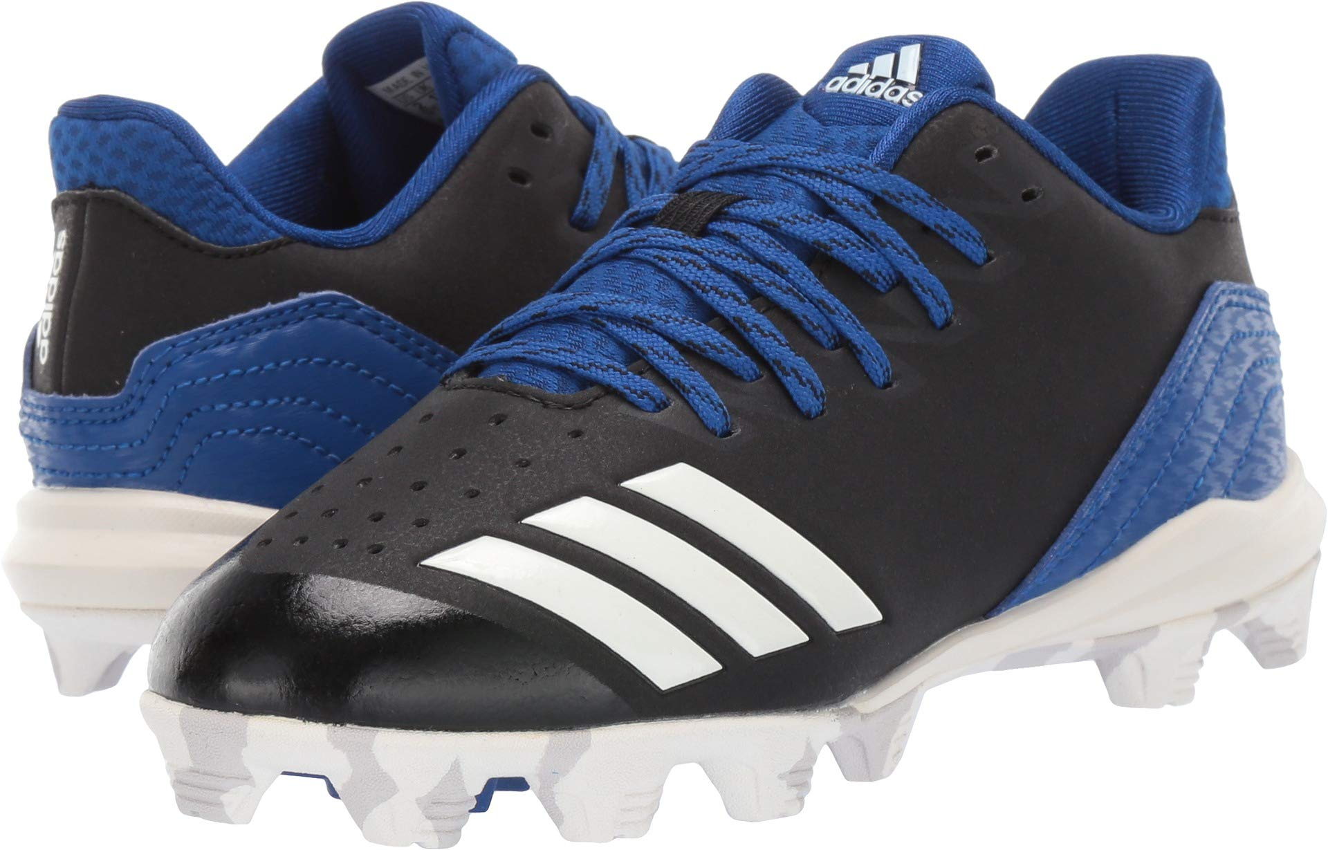 adidas Unisex Icon 4, Black/Cloud White/Collegiate Royal, 2 M US Little Kid by adidas