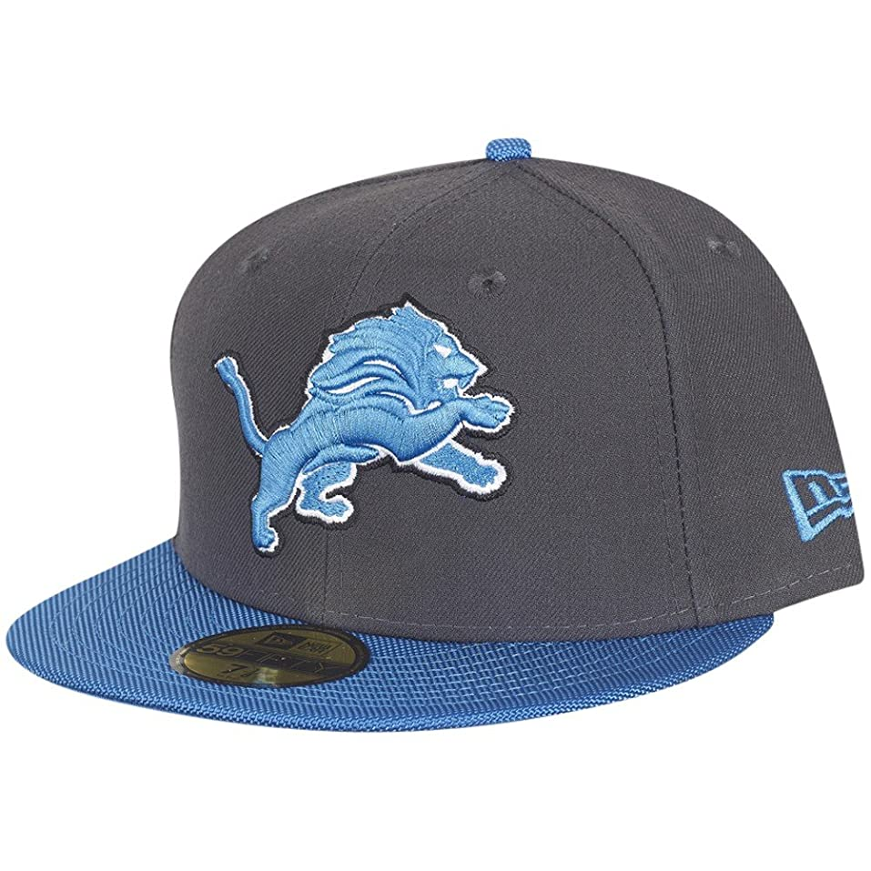 new era nfl detroit lions ballistic visor cap 59fifty fitted basecap 5950 mens at amazon mens clothing store - Lowprofilekopfteil