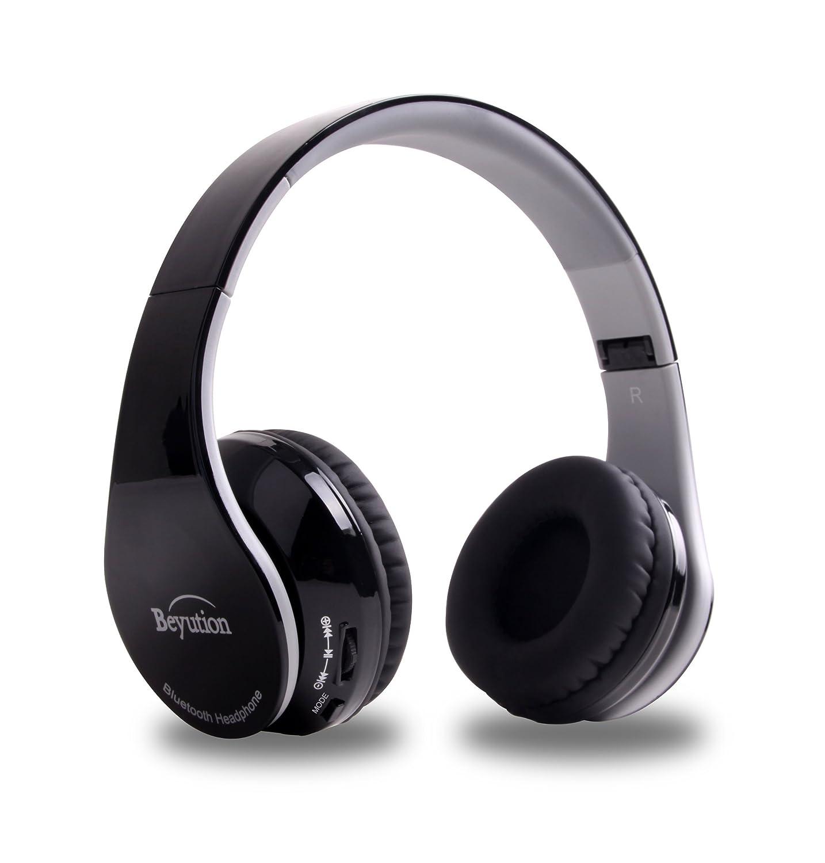 7aa07ddbfad Amazon.com: Beyution V4.1 Bluetooth Headphones Wireless Foldable Hi-fi  Stereo Headphone for Smart Phones & Tablets - Black: Cell Phones &  Accessories