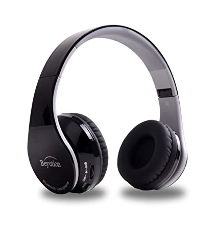 Beyution V4 1 Bluetooth Headphones Wireless Foldable Hi-fi Stereo Headphone  for Smart Phones & Tablets - Black