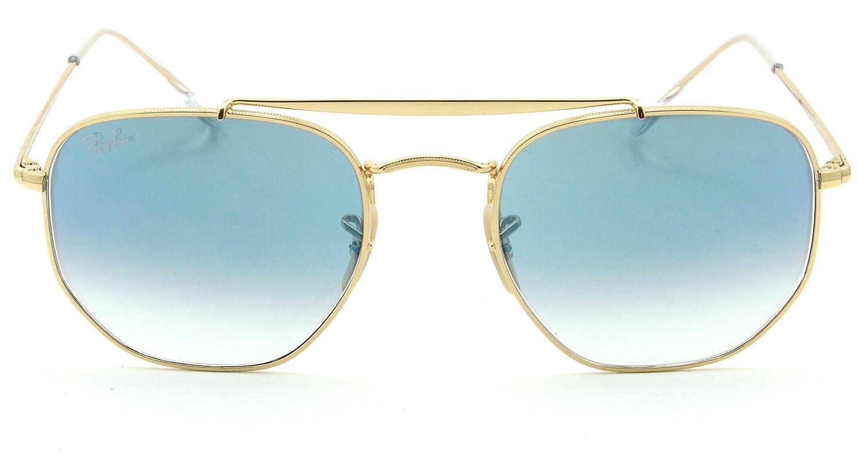 075d3c84e1a Amazon.com  Ray-Ban RB3648 Marshal Gradient Unisex Metal Sunglasses 001 3F  - 51mm  Clothing