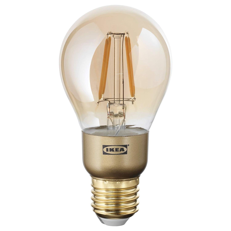 IKEA 103.450.30 Lunnom LED電球 E26 400ルーメン 調光可能 グローブブラウンクリアガラス B07KM987ZC
