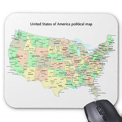 Political Map Of America States.Amazon Com United States Of America Political Map Mouse