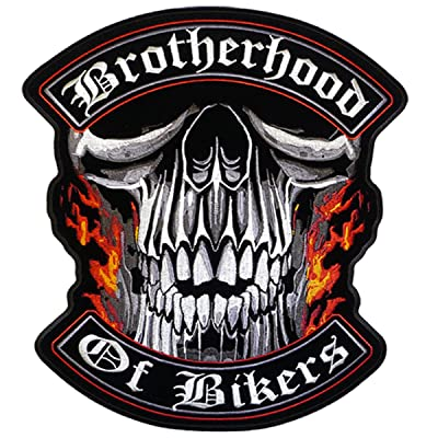"""Hot Leathers Brotherhood Of Bikers Patch (4"""" Width x 4"""" Height)"""