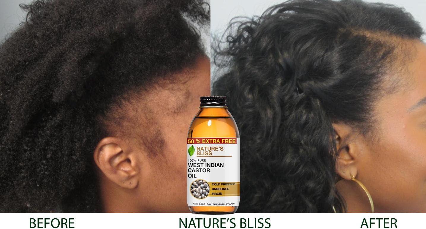 Bliss de la naturaleza 100% puro aceite de ricino para el cabello ...