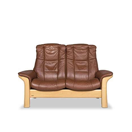 Stressless Windsor Leather Sofa Brown Two Seater Couch ...