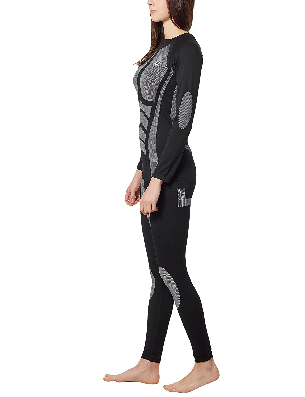 Ultrasport Seamless Functional Quick Dry Conjunto Interior Deportivo, Mujer, Negro, XL: Amazon.es: Deportes y aire libre