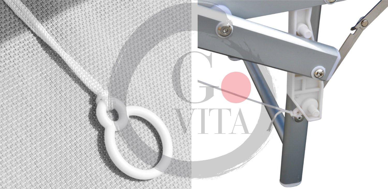 x2 GOVITA Lettino da Mare in Alluminio Sdraio Parasole Mare Giardino Piscina Prendisole